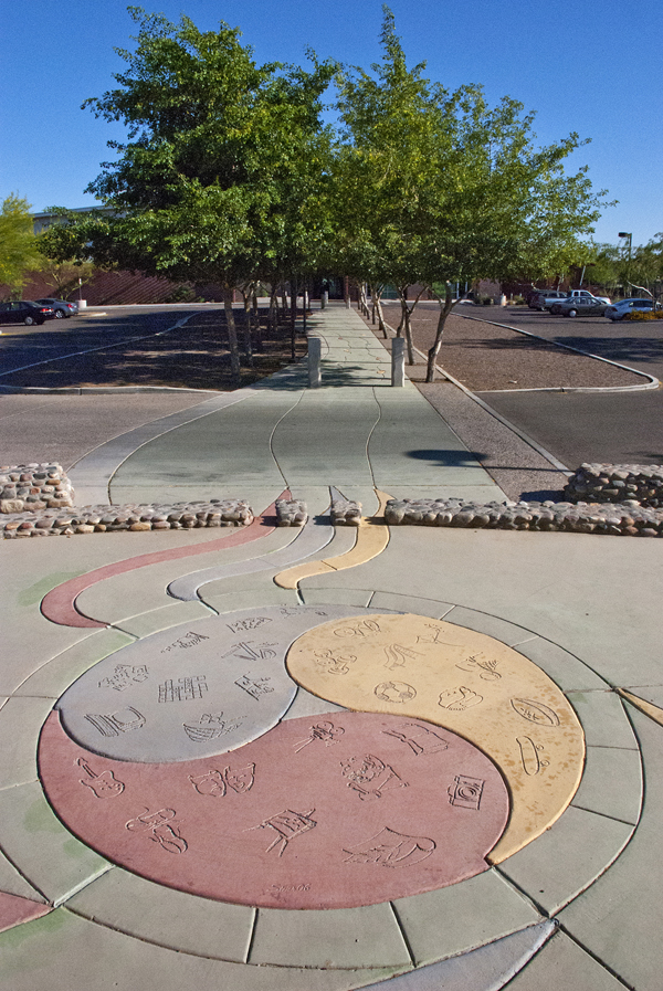 Photograph of Play Medallion at the North Tempe Multi-Generational Center