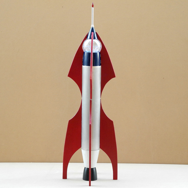 Photograph of Thomas Strich's Rocket sculpture inspired by Volans' rocket design